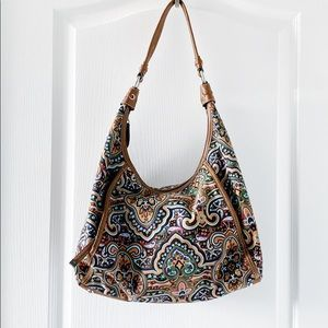 Tignanello floral hobo bag w/faux leather